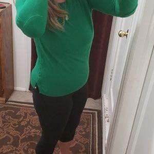 Kelly green Banana Republic sweater